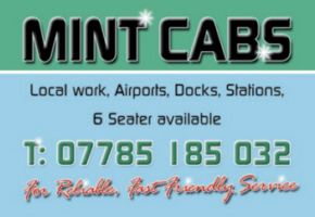 Mint Cabs logo